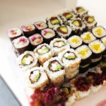 inside out sushi roll photo