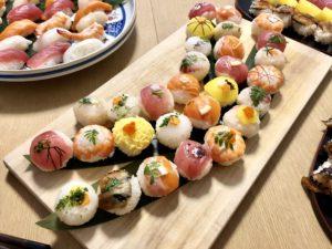 sushi for TV shooting