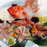 sashimi of gold eye seabream