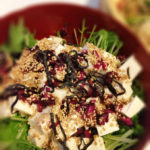 Japanese style tofu with green salad