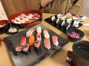 sushi guests made