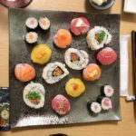 beautiful sushi made by guest