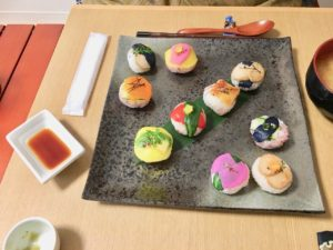 vegan sushi guest made