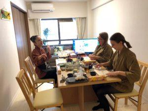 enjoy talking and making sushi