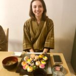 guest with temari sushi