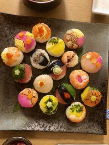 beautiful temari sushi guest made
