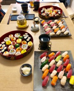all the sushi