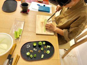 cutting vegetable