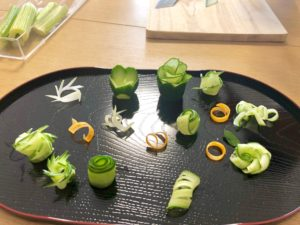 vegetable cutting decoration