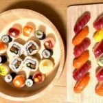 tuna and salmon sushi