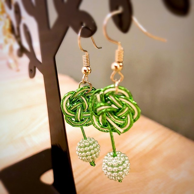 Japanse Mizuhiki earrings