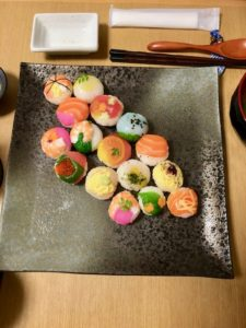 temari sushi guests made