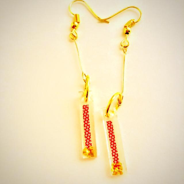 Japanese style stick earrings