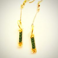 Japanese style stick earrings