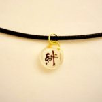 Japanese style choker necklace