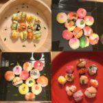 beautiful sushi guests made!