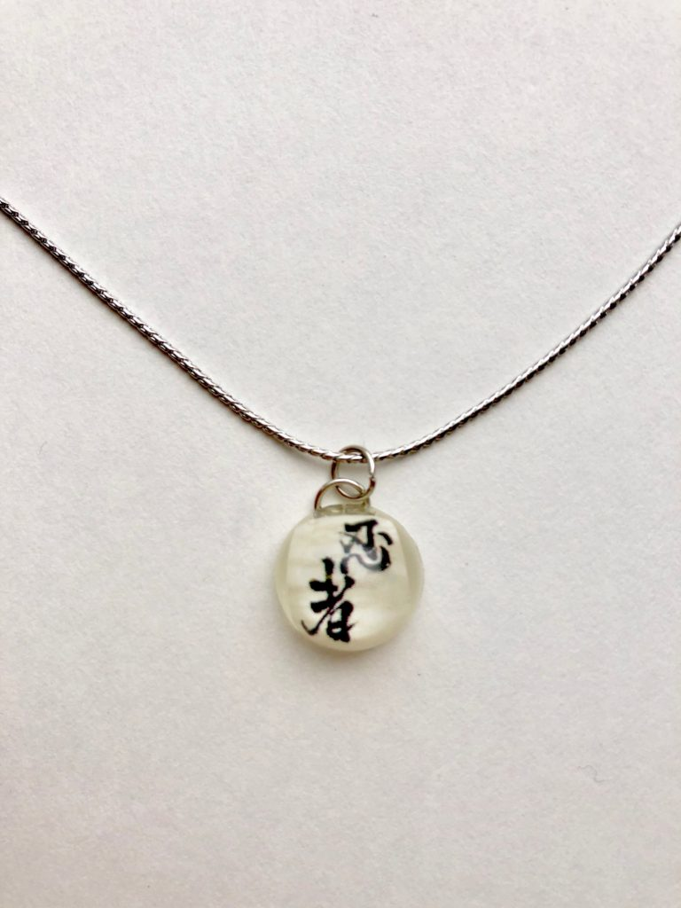 Japanese style silver plated necklace
