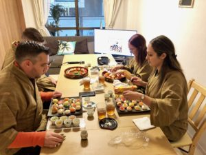 Temari sushi making