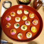 guest made beautiful temari sushi