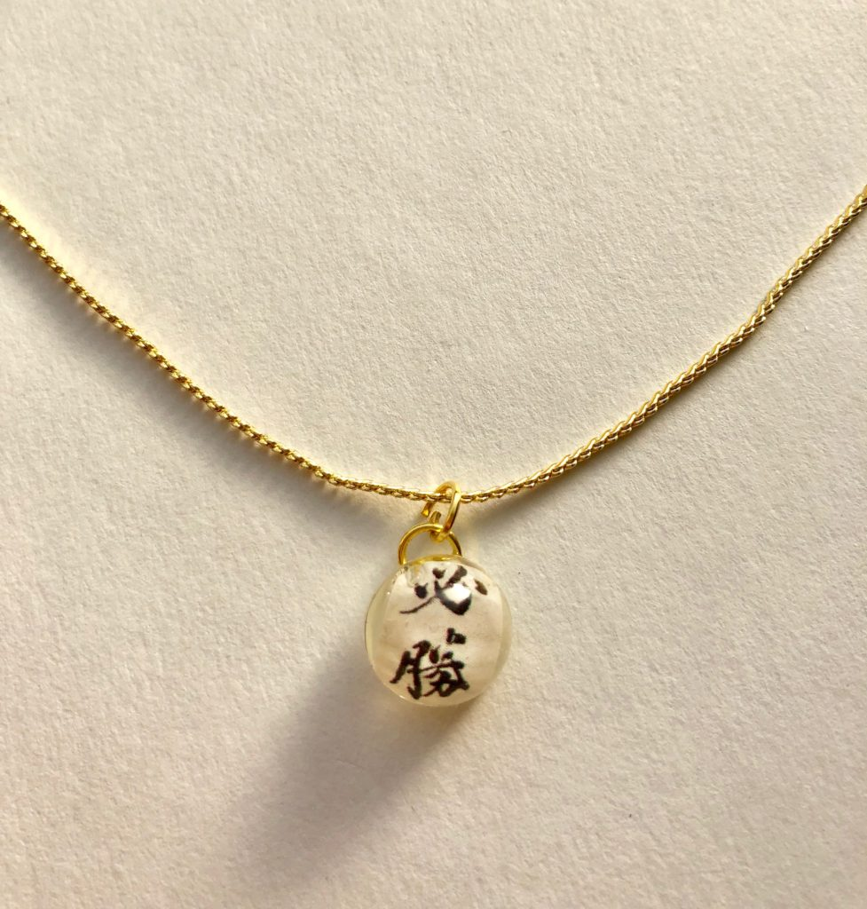 Japanese style gold plated necklace