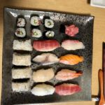 Beautiful nigiri sushi the guest made