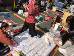 at Sakura festival flea market