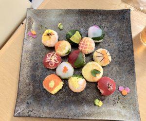 colorful temari sushi