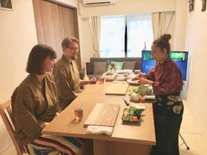 Healthy rice Onigiri set menu course