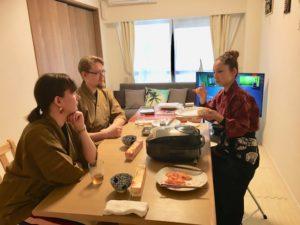 Making Onigiri rice ball