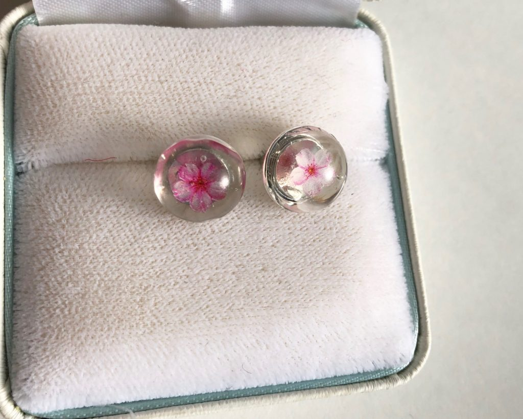 Japanese Sakura stud earrings