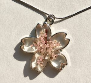 Our handmade Sakura cherry flowers jewelry