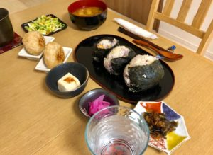 Onigiri set menu course