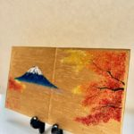 Mt. Fuji and Autumn leaves on Etsy