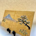 Mt. Fuji and snow Pine trees on Etsy