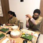 Nigiri sushi making
