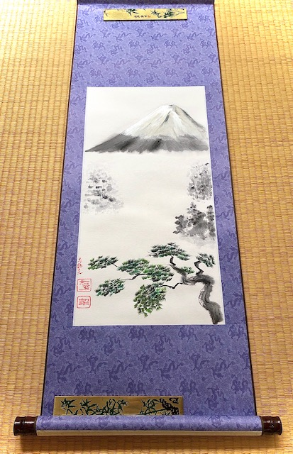 Mt. Fuji and Japanese pine tree Kakemono on Etsy