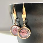 Japanese style 3D Sakura cherry blossom dangling earrings