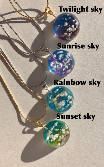 Unique crystal 3D dome sky necklace
