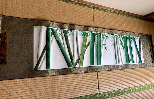 Extra large landscape bamboo forest Japanese painting art wall decoration