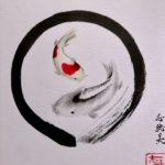 Japanese painting calligraphy art Kakejiku style wall decoration