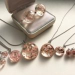 3D miniature Sakura cherry blossom crystal jewelry