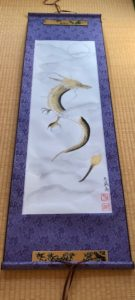 Unique Dragon Ryujin Japanese painting Kakejiku hanging scroll