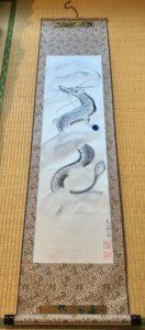 Extra long Drago Ryujin calligraphy art kakejiku hanging scroll