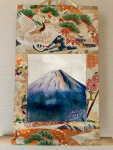 Japanese painting hanging scroll Mt. Fuji Kakejiku art