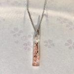 Japanese style crystal stick Sakura necklace