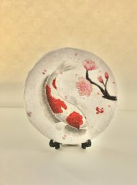 Japanese painting ceramic decorative plate