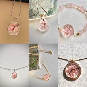 Our Sakura cherry blossoms jewelry series