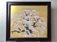 Japanese painting Sakura cherry blossoms