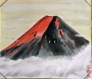 Mt.Fuji in the sunrise painting