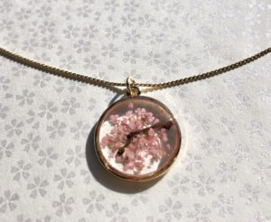 Sakura cherry blossom jewelry on Etsy shop